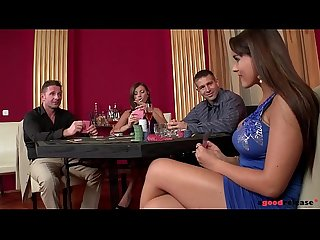 Busty Dona Bell and Valery Summer Bet on Groupsex