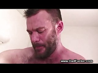 Big Bear drills young studs tight ass