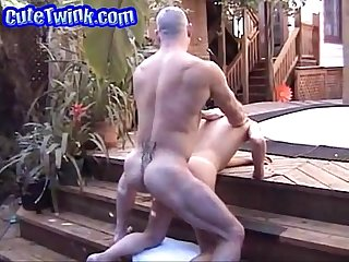 Hot daddy fucks young