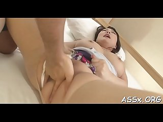 Naughty asian oral service and shaving