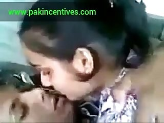 Beautiful indian Girl kissing and smooching with bf