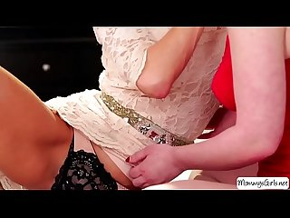Horny stepmom veronica avluv seduces lesbian teen katie st ives to make her squi