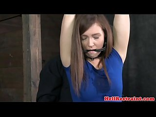 Mouth gagged submissive getting punished