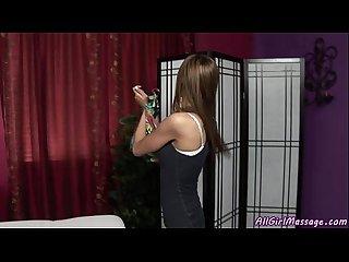 An innocent client get a special massage treatment