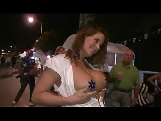 Boozed nude housewives in the streets of New Orleans