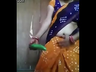 Desi aunty fuck with cucumber