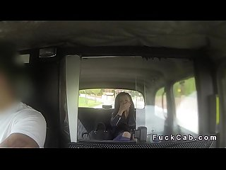 Beautiful euro babe bangs in fake taxi