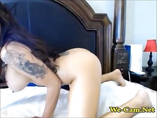 Bigtits riding toy and show titjob