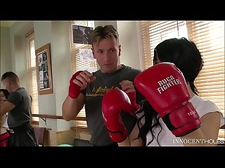 Teen boxer babe Sandra Luberc is an Anal Sex Commando