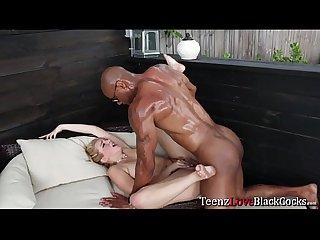 Teen Tiffany receives a Asantis big and black cock