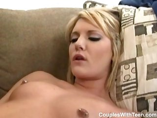 Teen banged by Couple