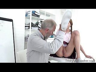 Tricky Old Teacher - Student Paris Devine fucked by old teacher