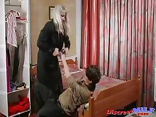 Son and mom love to fuck and to play with toys p1