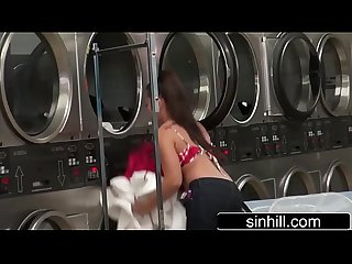 Couple Of Exhsibisionists Caught on Cam Fucking In Laundry - Morgan Lee