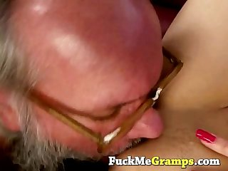 Grandpa gets really lucky