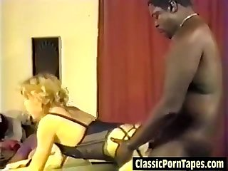 Interracial vintage office ffm