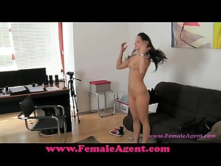 Femaleagent pleasuring an agent