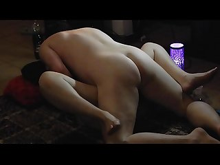 Real and passionate sextape from a real amateur couple fucking on the floor