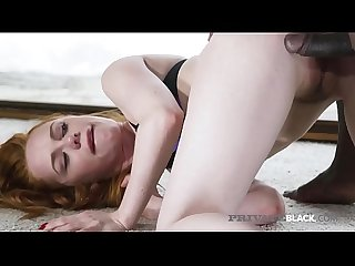Young Redhead Ella Hughes Tastes Big Black Meat!
