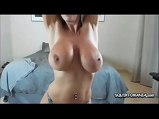 Fit Blonde Milf With Really Big Tits Sucking and Fucking Big Dildo
