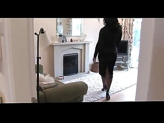 Natural Busty Housewife in Stockings High Heels