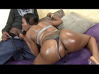 All Natural Ebony Babe Rides BBC