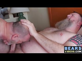 Hairy cub receives a raw ass pounding from a chubby bear