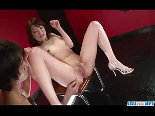 Dazzling oral play for tomoka sakurais pussy