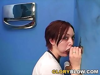 Hailey Having Fun With BBC at Gloryhole