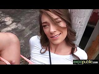 Slut European Girl (kirsten lee) Easy Seduced Agree To Bang Outdoor clip-19
