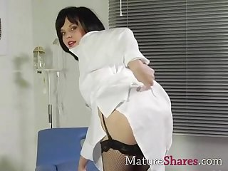 Small milf playing nurse