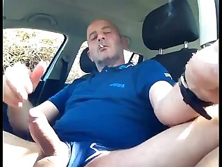 Smoke and wank in my car