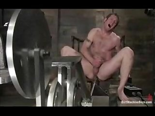 Sweet gay butt brutally penetrated by a huge machine
