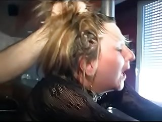French woman gets handcuffed, spanked hard, gets hard bdsm, whipped, tied..
