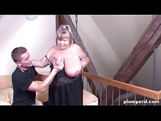 Fat German granny fucked so hard she can't believe it