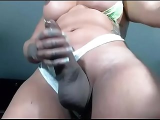 Sarasensation4uxxx sexy shemale big cock masturbation tranny big ass 01