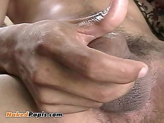 Big dick latino strokes his big verga and shoots a massive load