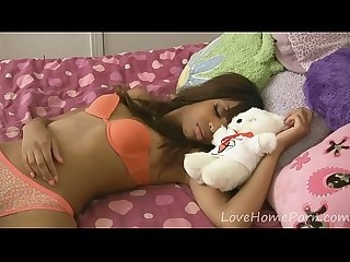 Sleeping ebony babe receives a hard dick