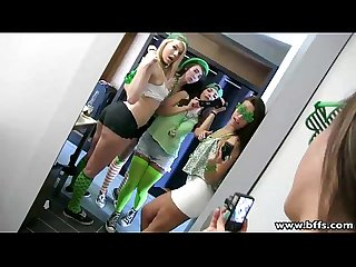 Bffs a group fuck fest on st pattys