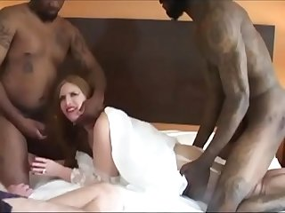 Bbc Cuckold white whore first anal pain