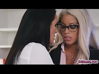 Bridgette B eats and licks Reagan Foxx milf pussy as she grinds on her face!