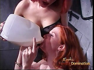 Freckled ginger slut enjoys getting tied up by her kinky domina
