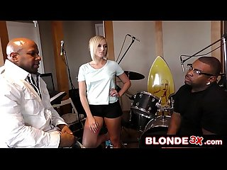 Band rehearsal turns into interracial mmf Threesome kate england