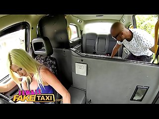 Femalefaketaxi blonde gets a wet pussy after attempted robbery