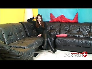 Naughty student cleopatra at first porn movie