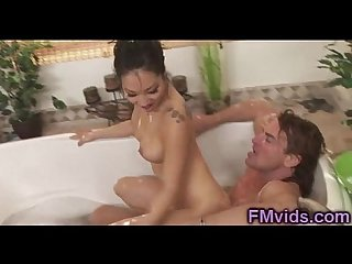 Asa akira soapy play in the bathtub