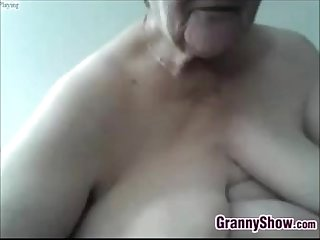 Big and horny grandmother masturbating