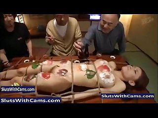 Human Sushi Table - Slutswithcams