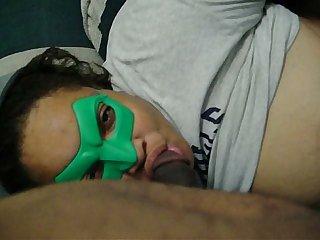 Masked freaky redbone head
