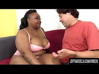 Black Plumper Sofia St James Is Introduced to Interracial Fucking